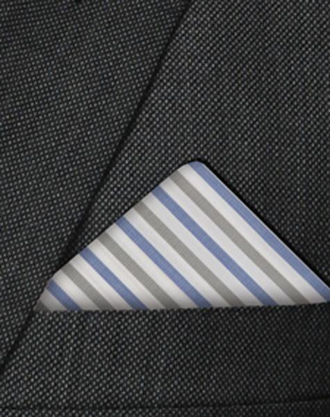 Pochette grise et bleue