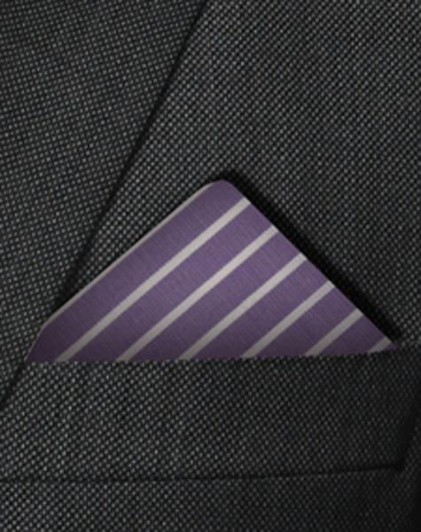 Pochette violette et blanche