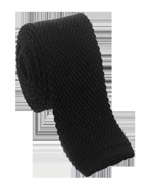 Cravate tricotée noire