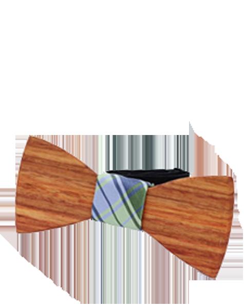 Noeud papillon en bois