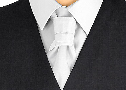 Cravalière en soie Blanc