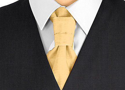 Cravalière en soie doré