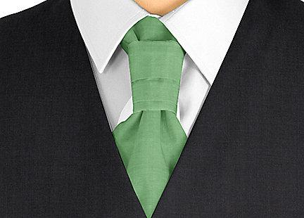 Cravalière en soie vert