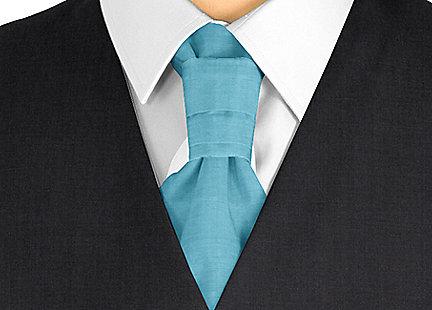 Cravalière en soie Turquoise