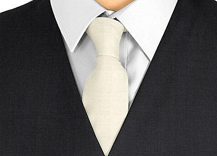 Cravate taupe en soie