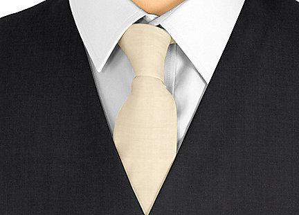 Cravate beige en soie