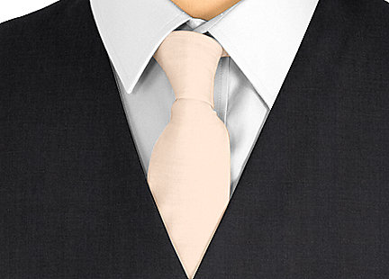 Cravate couleur pêche