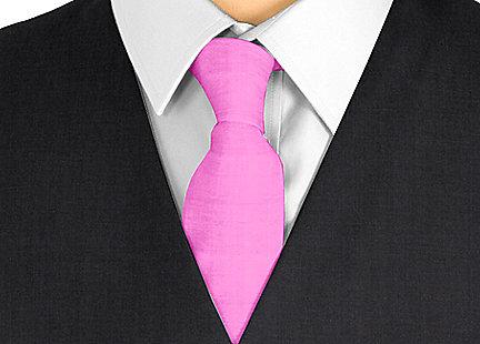 Cravate rose fushia en soie
