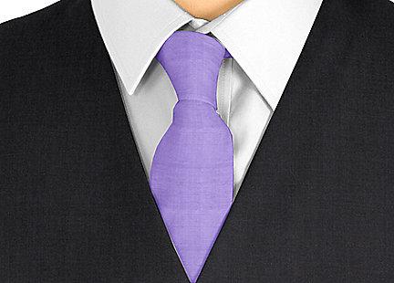 Cravate violet en soie