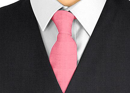 Cravate rouge en soie