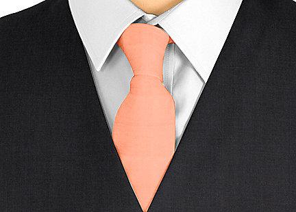 Cravate orange en soie