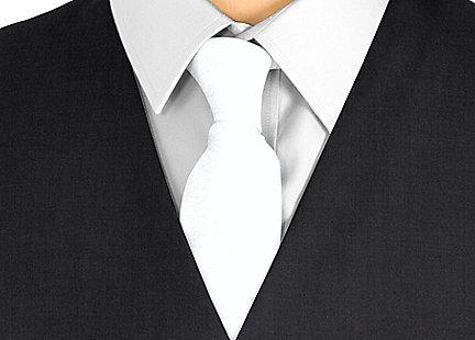 Cravate gris clair en soie