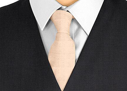 Cravate marron en soie