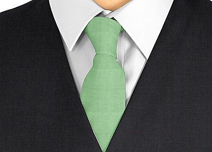 Cravate vert en soie