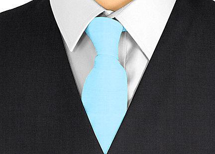 Cravate bleu turquoise en soie