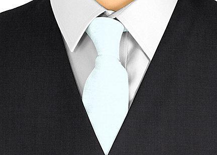 Cravate bleu en soie