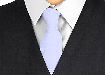 Cravate mauve en soie