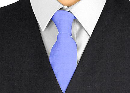 Cravate bleu roi en soie
