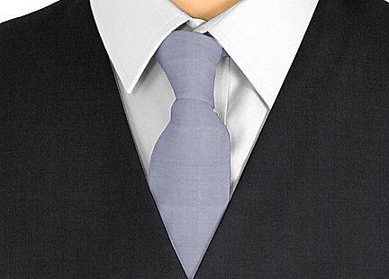 Cravate gris en soie