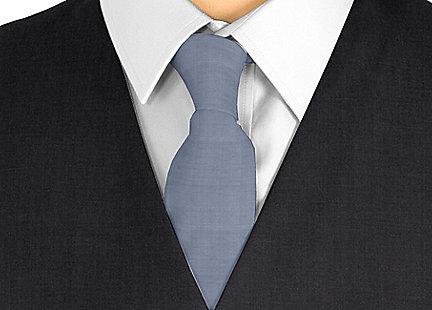 Cravate gris anthracite en soie