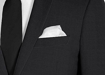 Pochette de costume Blanc en soie