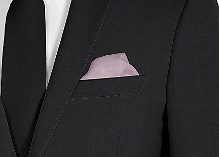 Pochette de costume mauve en soie