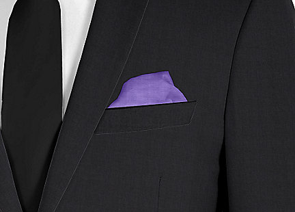 Pochette de costume violet en soie