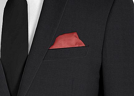 Pochette de costume bordeaux en soie