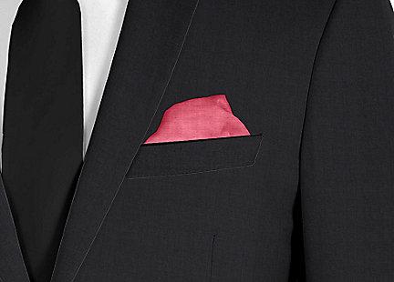 Pochette de costume rouge en soie
