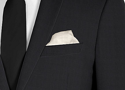 Pochette de costume gris en soie