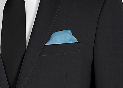 Pochette de costume Turquoise en soie