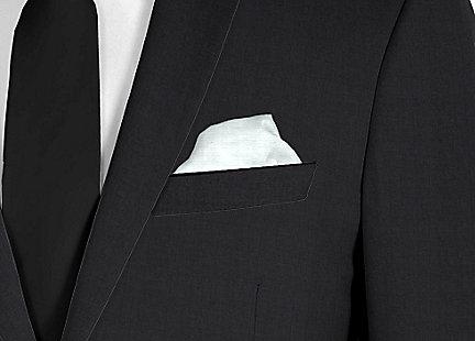 Pochette de costume bleu ciel en soie