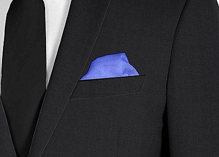 Pochette de costume bleu roi en soie