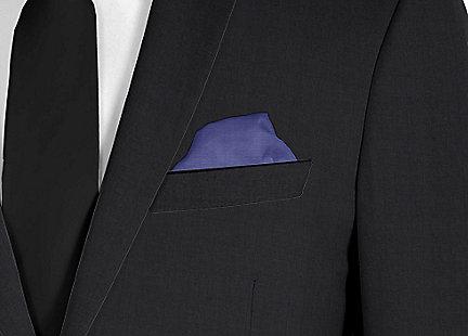 Pochette de costume bleu nuit en soie