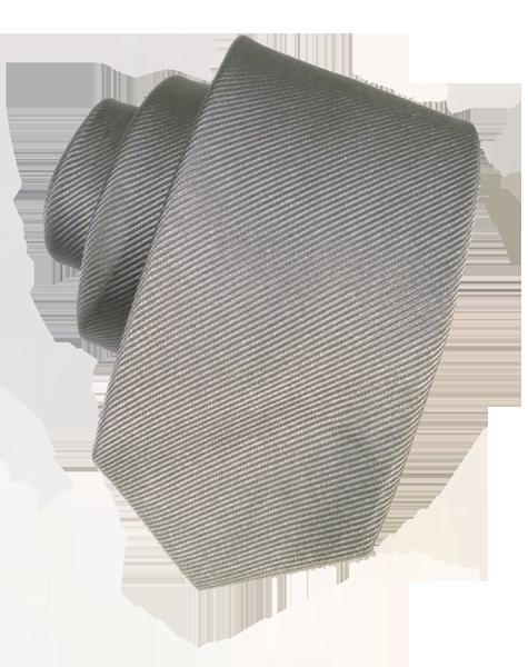 Cravate gris uni