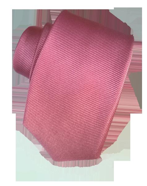Cravate unie rose