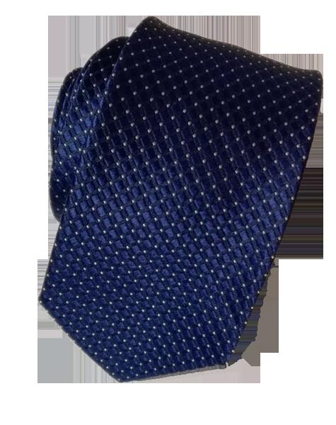 Cravate bleue à motifs