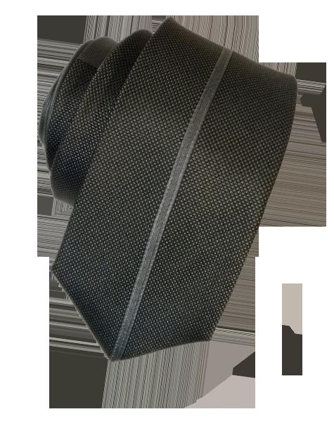 Cravate étroite grise