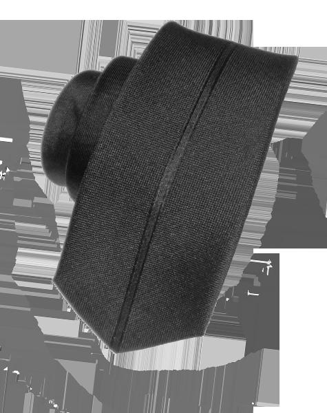 Cravate étroite noire