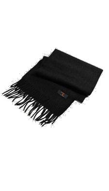 Écharpe noire en cachemire