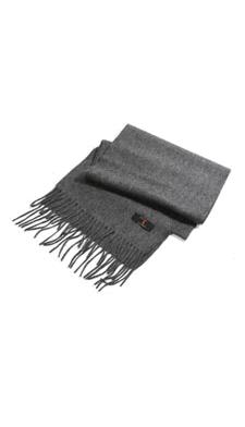 Écharpe grise en cachemire.