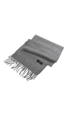 Écharpe gris clair en cachemire.